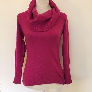 Banana Republic pink wool Turtleneck sweater