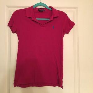 Collared polo shirt
