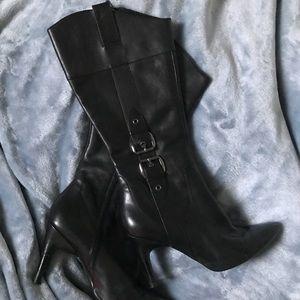 ✨Via Spiga Black Leather Boots