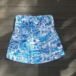 Lilly Pulitzer strapless shirt Sz:L