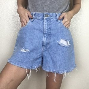Vintage 90s High Waisted Distressed Cut Off Shorts
