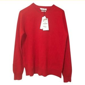 Zara Red 100% Cashmere Sweater