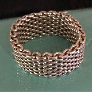 Tiffany & Co. Somerset Mesh Ring Sterling Silver