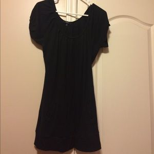 Black soft comfy dress with pockets
