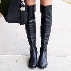 Stuart Weitzman 5050 other the knee black boots