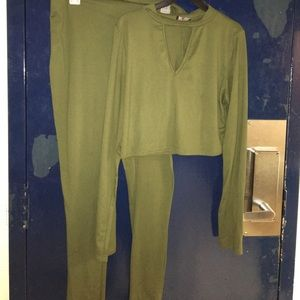 Other - Olive Green Two Piece Set