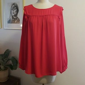 Great Condition Ann Taylor Loft Red Blouse!