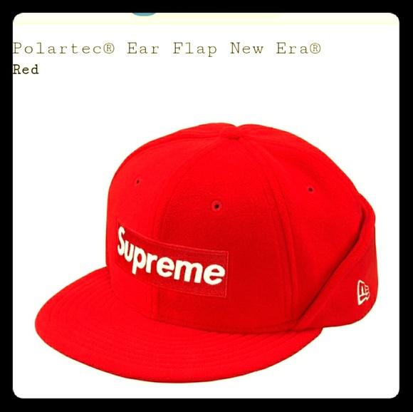 SUPREME Repeat Beanie Red Black White box logo camp cap tnf F//W 17