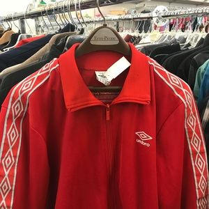 Red Vintage Umbro Zip Up