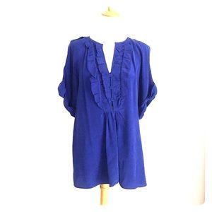 Nanette Lepore blue blouse