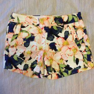 J crew floral shorts