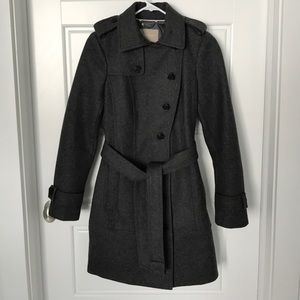 Banana republic wool blend trench coat- size 4