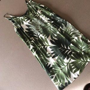 Topshop Palm shift dress