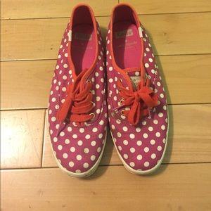 Keds Kate Spade polkadot pink shoes