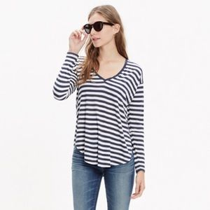 Madewell anthem long sleeve v neck tee