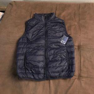 Navy puffer vest