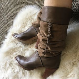 vintage slouch boots