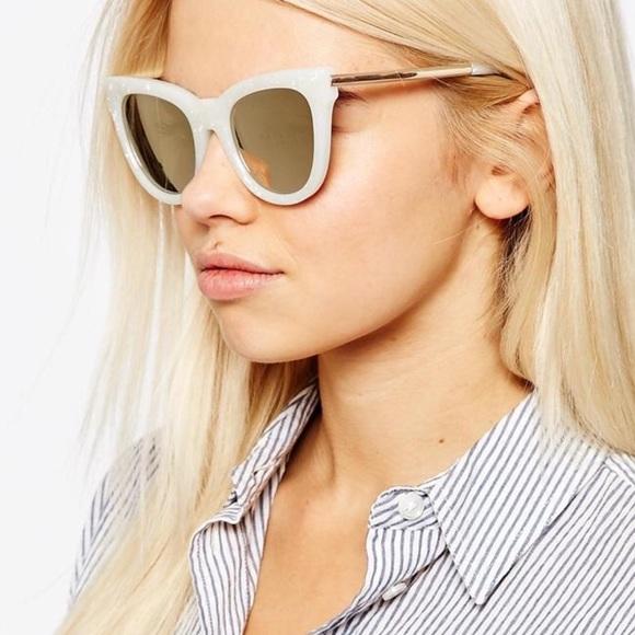 f98daa91c9 LeSpecs Accessories - Le Specs Le Debutante White and Gold
