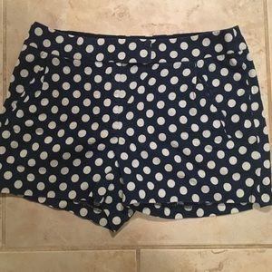 J. Crew Polka-Dot Shorts Sz 0 Linen Blend