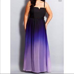 NWOT City Chic ombré gown