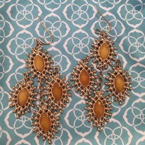 Kendra Scott Statement Earrings: Gold