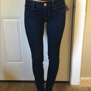 American eagle dark wash jegging skinny jeans