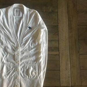 Abercrombie & Fitch Large White Boyfriend Cardigan