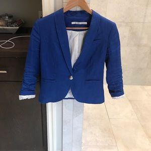 Small Gibson blue linen blazer. Never worn