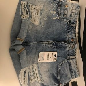 Zara Ripped Shorts NWT