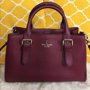 🌸OFFERS?🌸Kate Spade All Leather Burgundy Satchel