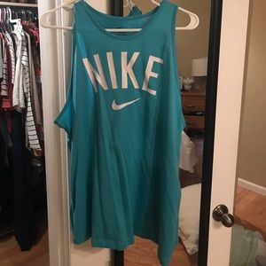 Baby blue Nike tank top
