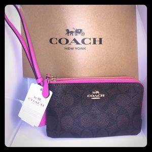 Gorgeous Coach!!!! signature PVC double zipper 💋