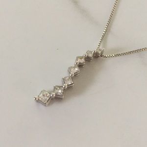 Kay Jewelers Journey Diamond Necklace White Gold