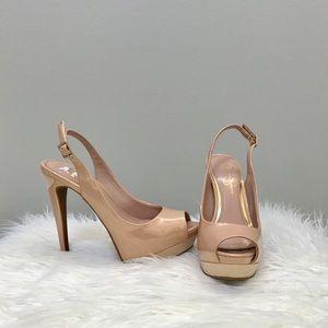 Jessica Simpson Nude/Blush Open Toe Heels