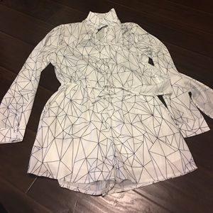 Missguided long sleeve romper