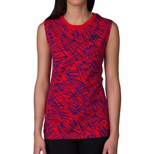 NWT Nike Red & Blue Crosshatch Muscle Tank