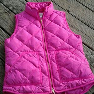 J.Crew Hot Pink Puffer Vest