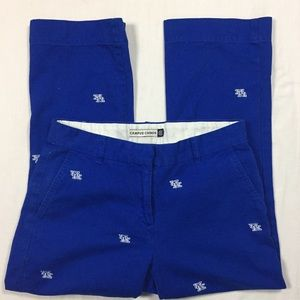 Pants - University of Kentucky blue embroidered chinos 6
