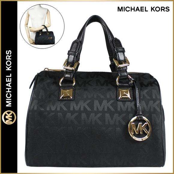 michael kors bags grayson large logo black poshmark rh poshmark com