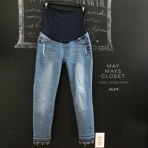 Denim - Song Maternity Ankle Skinny Jeans Distressed S