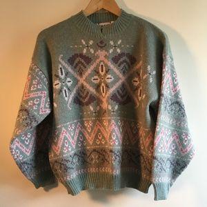 Vintage Nordic Pattern Sweater