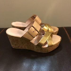 Kate Spade Talula Wedge Sandal Natural Leather