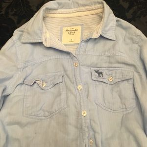 Abercrombie and Fitch pretty blue shirt