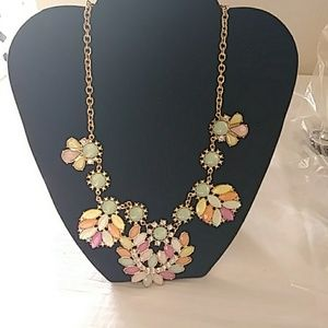 Jewelry - 14 inch colored beads and rhinestone necklace