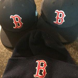 Baseball bundle 3 hats Boston Red Sox
