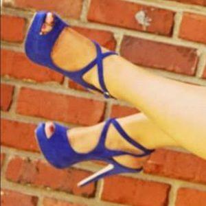 BCBG Cobalt Blue Heels