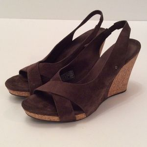 Brown Wedge by UGG