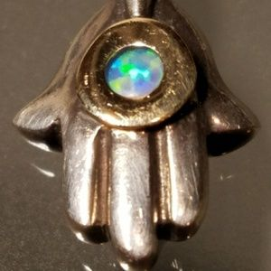 Hand Of God Hamza Sterling Silver Pendant