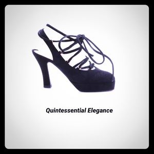 Chanel Black Suede Heels
