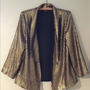 Urban Outfitters Gold Sequins Blazer